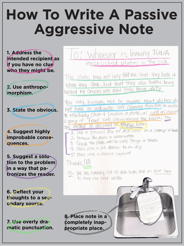 how to write passive aggressive note