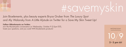 You're Invited! #savemyskin twitter party
