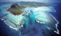 Underwater waterfall Mauritius