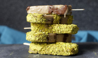 Yum Alert: Banana, Nutella And Salted Pistachio Popsicles