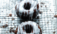 Yum Alert: Gluten-Free Chocolate Donuts with Zebra Glaze