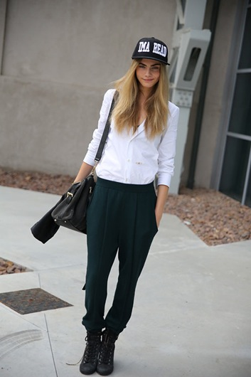 Get The Look And Feel Of Natural Wood For Your Front Door: Get The Look: Cara Delevingne