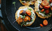 Yum Alert: Chickpea Pancakes With Smoky Roasted Carrots
