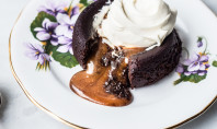Yum Alert: Salted Caramel Filled Molten Chocolate Cake