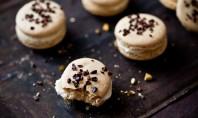 Yum Alert: Pistachio Cocoa Nib Macaron With Bourbon Buttercream