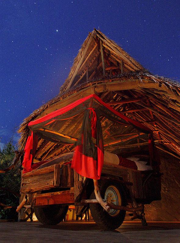 Loisaba Star Beds at night