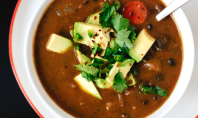 Yum Alert: Spicy Vegan Black Bean Soup