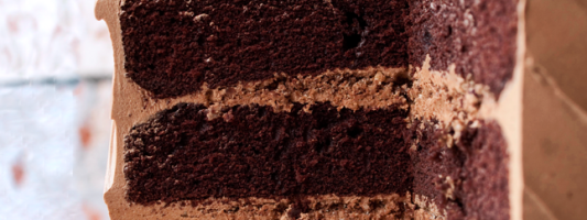 Yum Alert: Devil's Food Cake with Hazelnut Crunch
