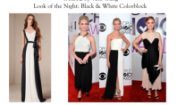 Look for Less: Black and White Colorblocking