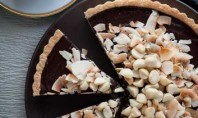 Yum Alert: Chocolate, Coconut, & Macadamia Nut Tart