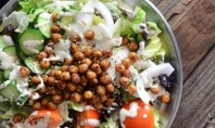 Yum Alert: Falafel-Spiced Chickpea Salad with Tahini Dressing