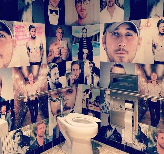 ryan gosling bathroom