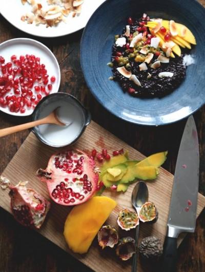 Yum Alert: Coconut Black Rice Breakfast Porridge