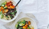 Yum Alert: Sweet Potato & Black Bean Burrito Bowls with Spicy Cumin Drizzle