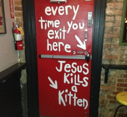 church themed bar