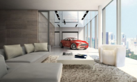 luxury living room garage