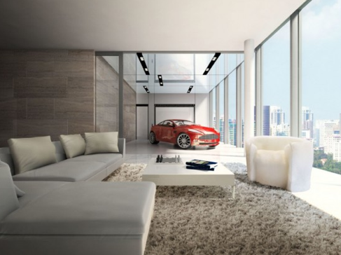 Singapore Luxury: Park Your Car In Your Living Room | The Luxury Spot