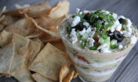 Greek Hummus Dip for the Big Game