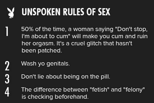 rules of sex
