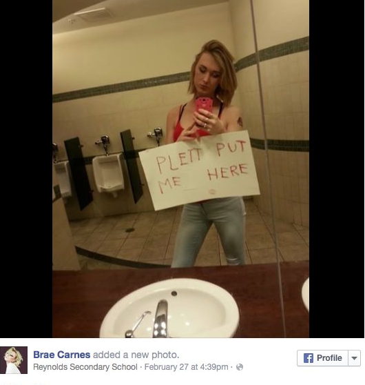 School Bathroom Selfies bathroom selfies to fight transphobia #wejustneedtopee | the