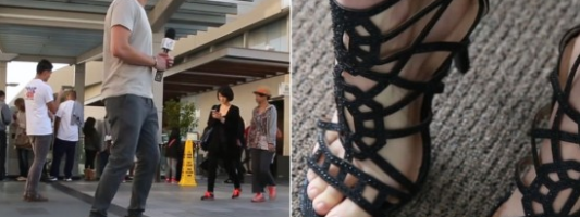 guy wearing heels social experiment