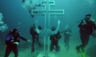 underwater russian church
