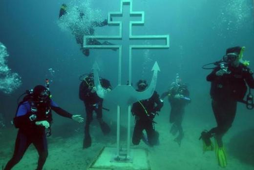 underwater russian church
