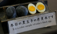 black boiled eggs