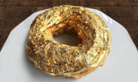 gold and champagne donut