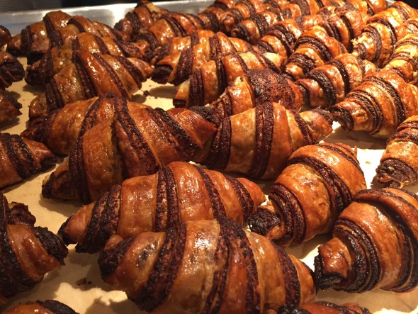 Traditional yeast-raised rugelach from Breads Bakery in NYC