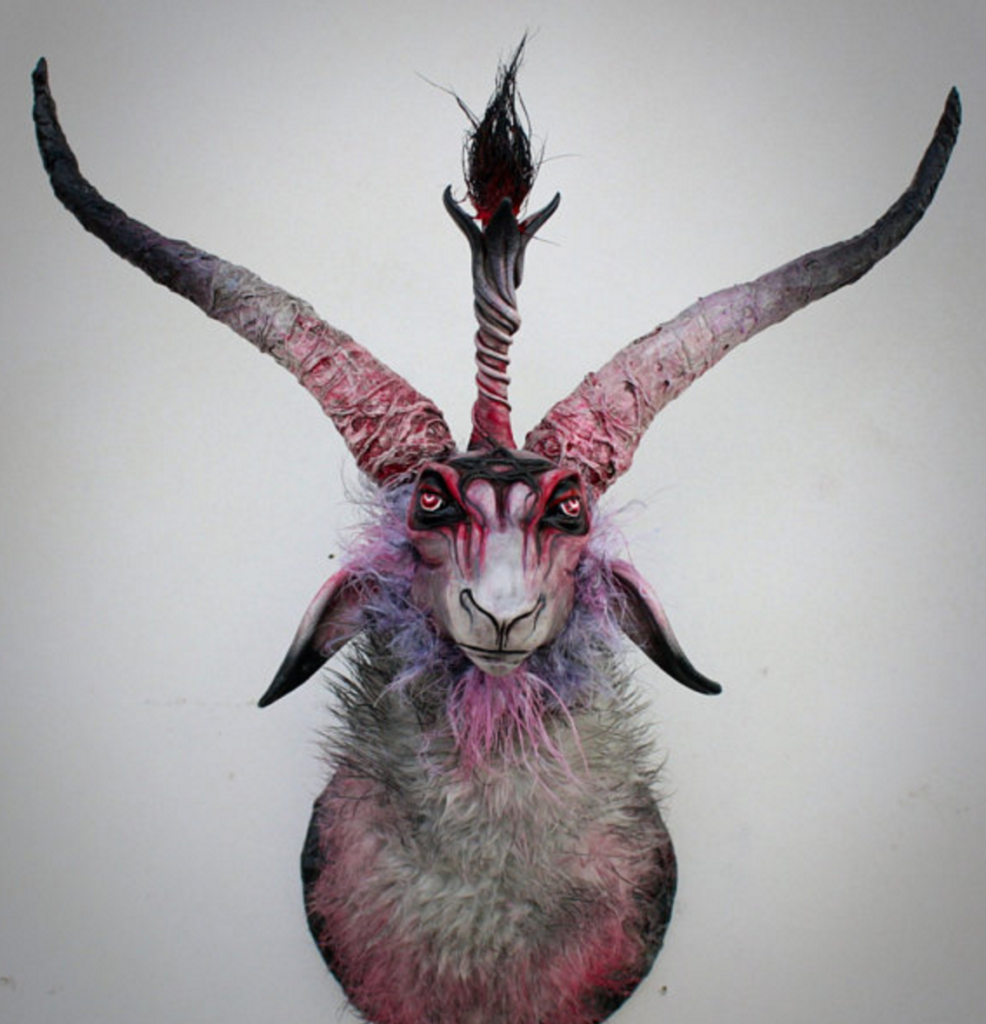Your Living Room Needs A Demonic Animal Head Mount The
