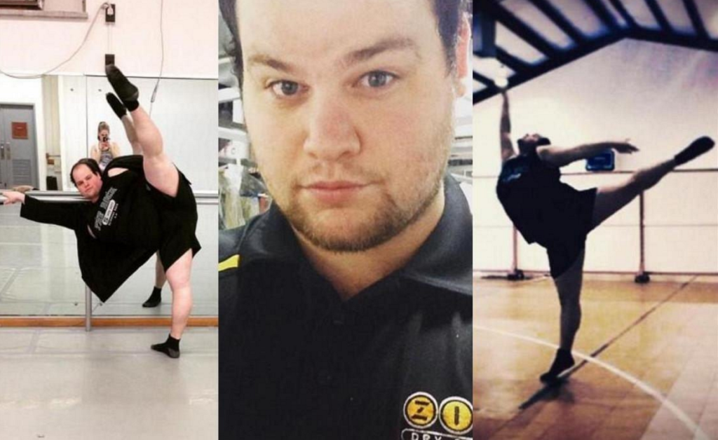 plus size male dancer