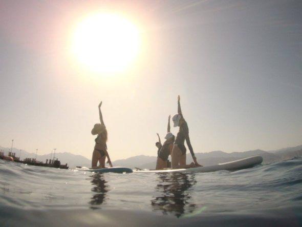 paddleboard yoga israel
