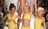 Is female body image damaged by pre-teen bikinis? We dare to ask.