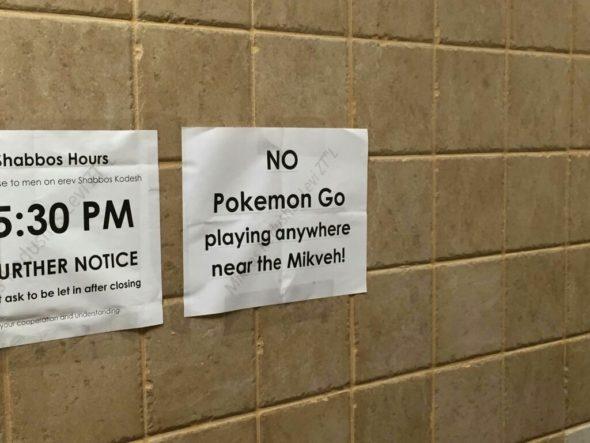 pokemon in the mikvah