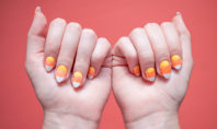 DIY Candy Corn Nails Tutorial