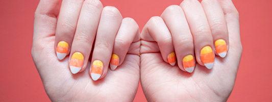 DIY Candy Corn Nails Tutorial