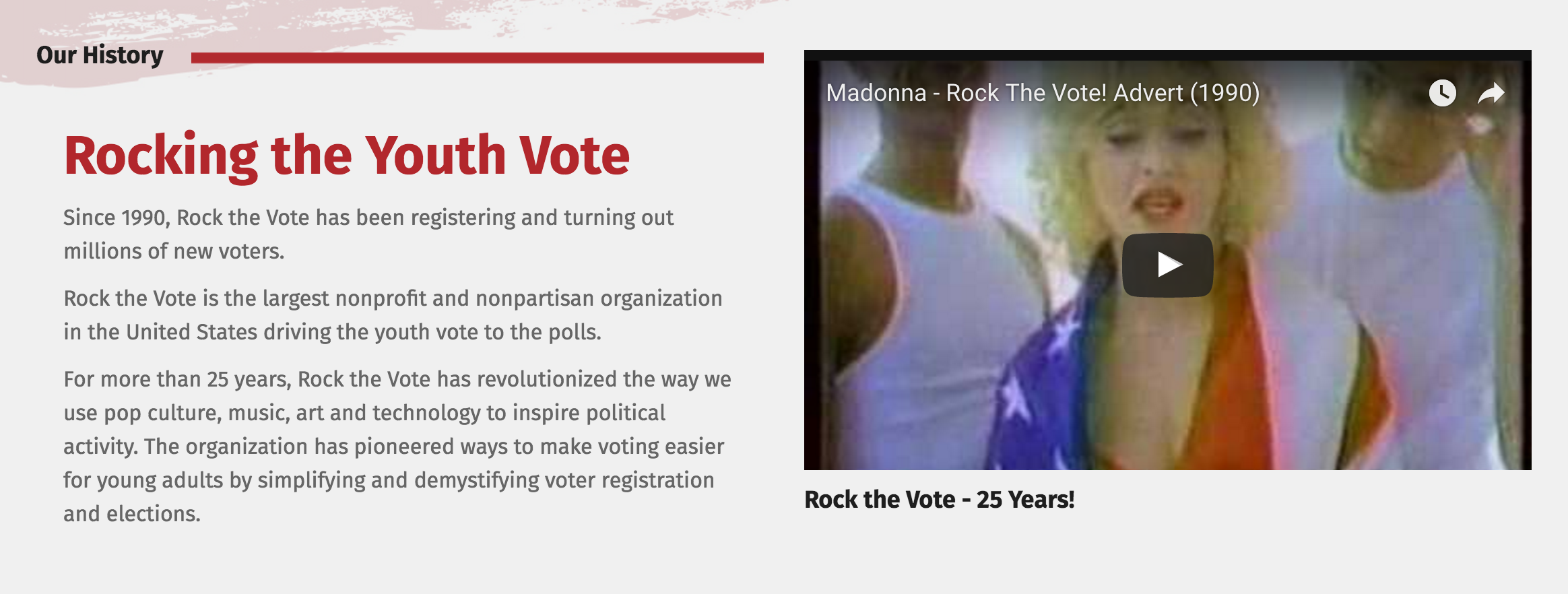 rock the vote about us