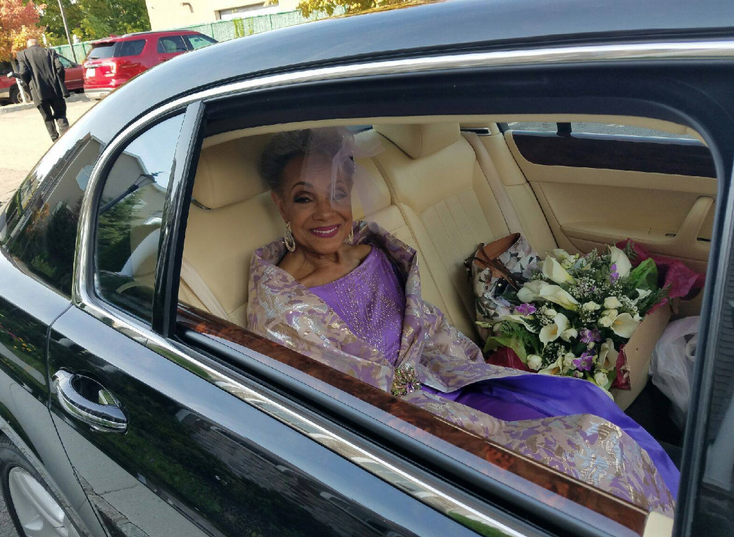 The 86 year old bride is more elegant than many women half her age