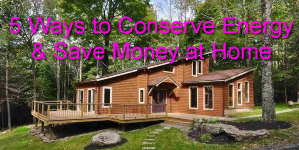 ways to conserve energy at home