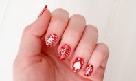 DIY Ugly Christmas Sweater Nails