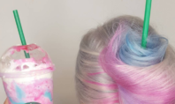 Her Unicorn Hair was Modeled Off the New Starbucks Frappuccino