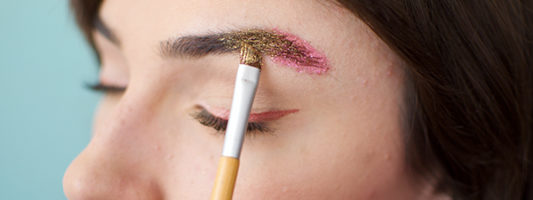 DIY Ombre Glitter Eyebrows