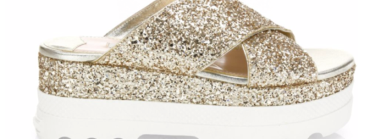This Season's Must Have Miu Miu Glitter Slides are ON SALE