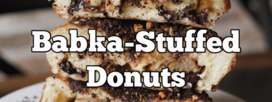 Chocolate Babka-Stuffed Donuts Exist, Not Fake News