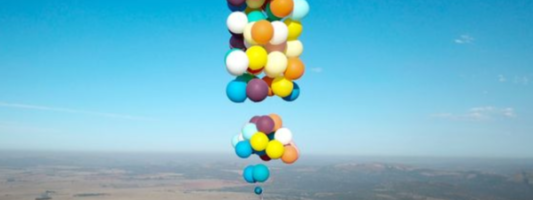 British Man Just Proved You CAN Fly with Just Balloons