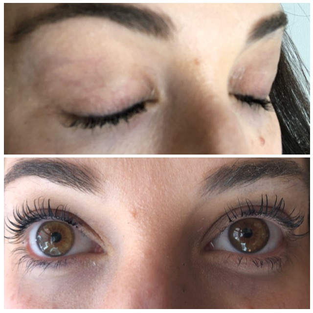 eyelash lift and tint before and after